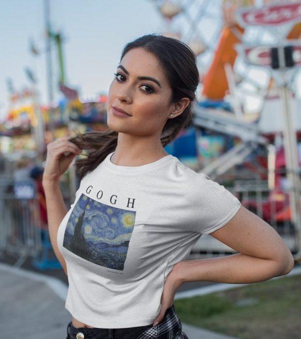 Gogh Frauen T-Shirt white