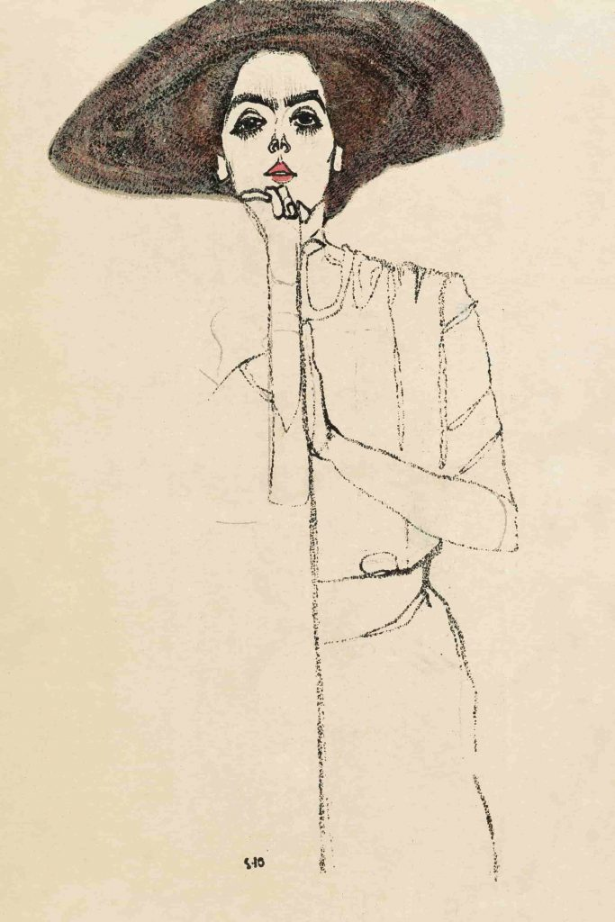 Egon Schiele Portrait einer Frau