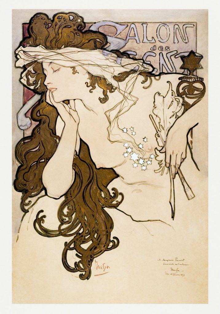 Salon des Cent poster (1896) - Alphonse Maria Mucha