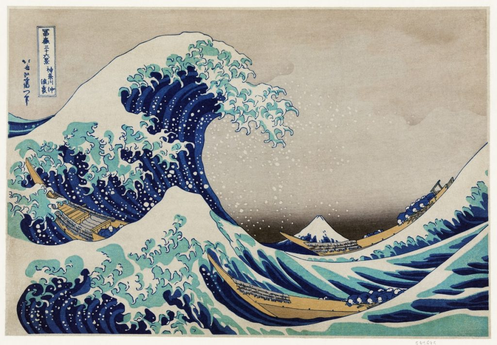 Die große Welle vor Kanagawa - von Katsushika Hokusai